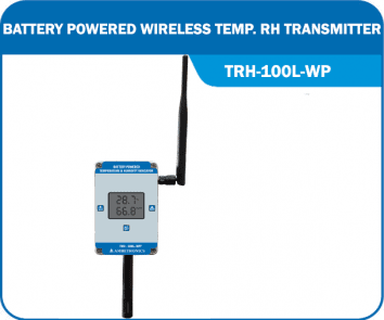 Battery Powered Wireless Temperature RH Transmitter TRH-100L-WP