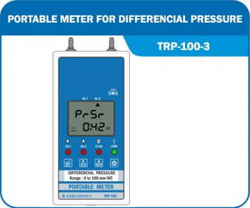 Portable Meter For Differential Pressure TRP-100-3